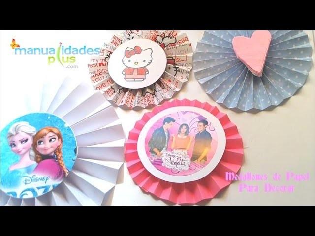 Medallones de Papel de Violetta Frozen Hello Kitty Baby Shower para Decorar