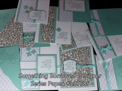 One Sheet Wonder Cards with the Something Borrowed Stampin' Up! Designer Paper - Laura's Stamp Pad