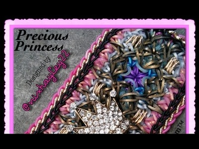 Rainbow Loom Band Precious Princess Bracelet Tutorial.How To