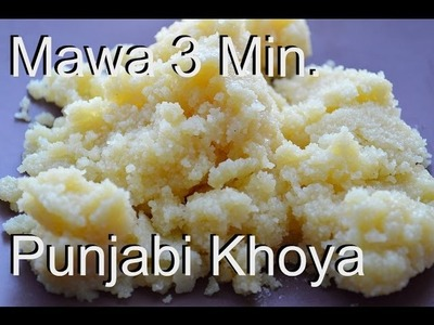 Real Khoya or Mawa in Microwave 3 Minute Recipe video by Chawlas-Kitchen.com