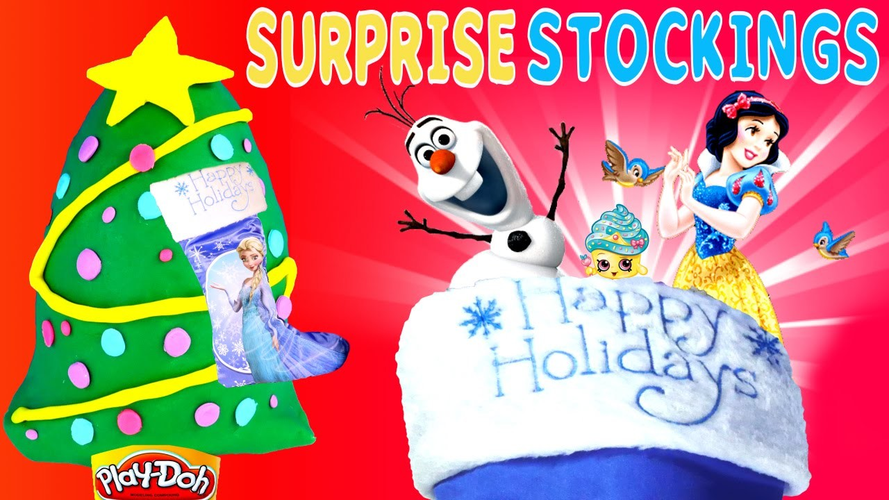 SURPRISE STOCKING Frozen - Play Doh Disney Princess Despicable Me Shopkins Minnie Mouse Egg Toys