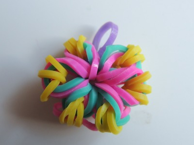 Tutorial flores con gomitas Rainbow Loom. Flowers RAinbow Loom.