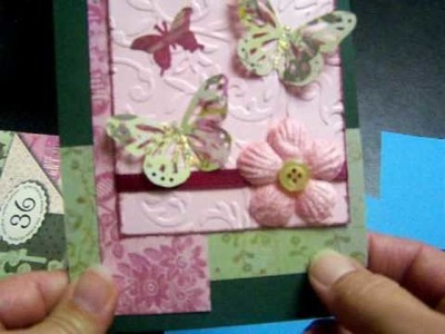 """Card Swap """"Sketch"""" Cards Using Martha Stewart Butterfly Punches"""