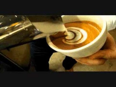 Cool Coffee Tricks! Tutorial On How To make a Leaf In Your Coffee