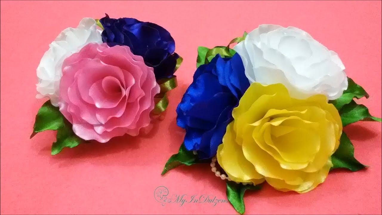 D.I.Y. Satin Flower Bunch - FIFA 2014 World Cup Brasil Theme flower