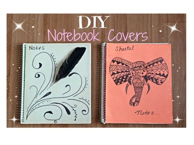 ♥ DIY Back To School Notebooks │ Tumblr Inspired │ Feathers & Tribal Elephants