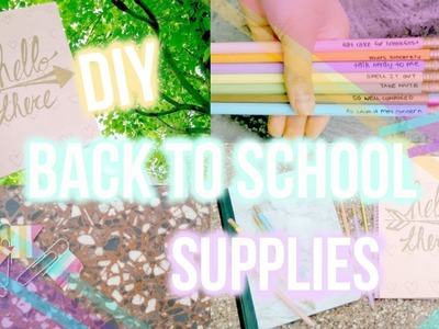 DIY Back To School Supplies! Marble Notebook, Kate Spade Notebookand more!   Sophys Ways