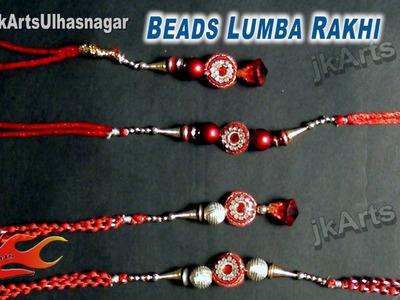 DIY Beads Lumba Rakhi for Raksha Bandhan   How to make    JK Arts 597