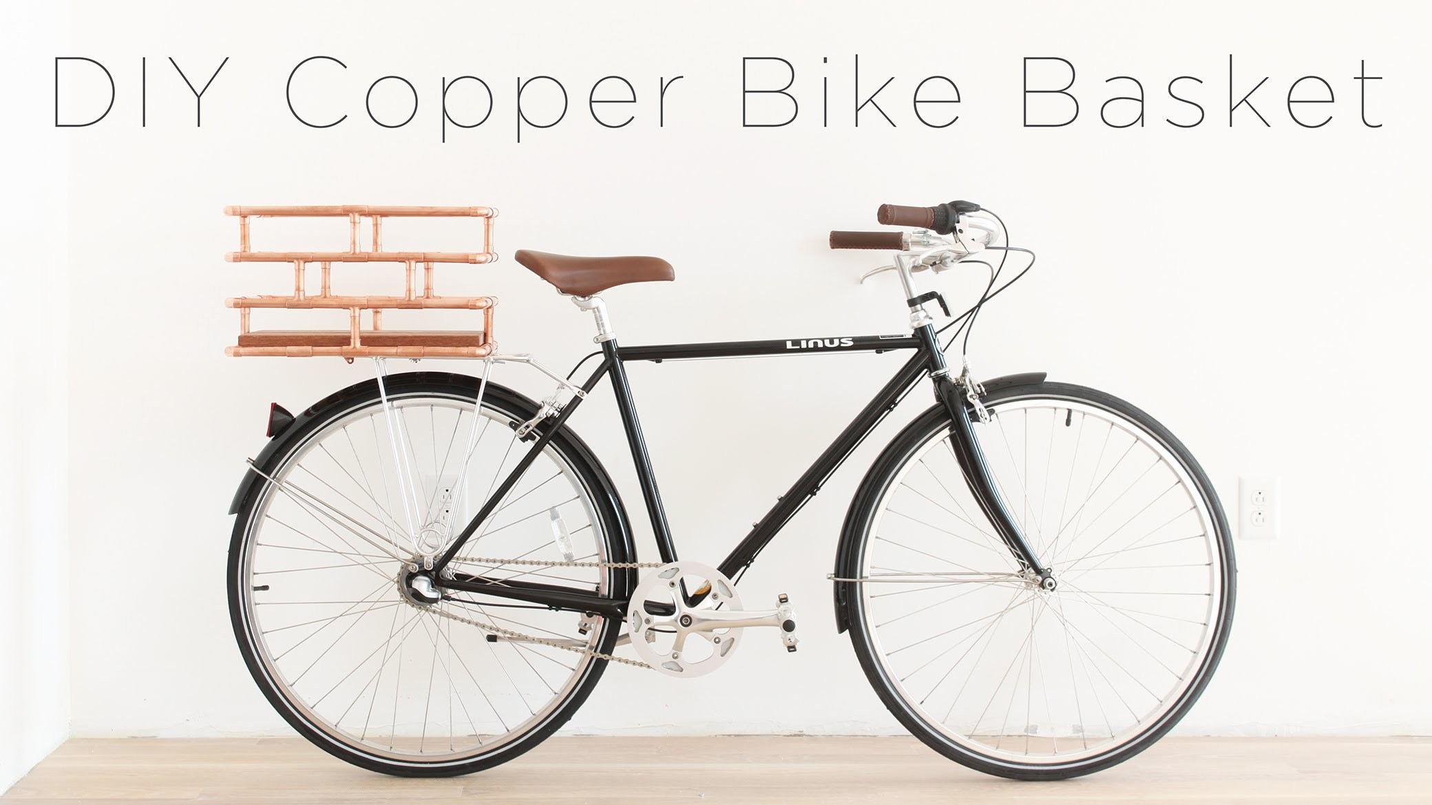 DIY Copper Bike Basket
