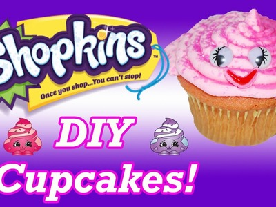 DIY How To Make Shopkins Ultra Rare Mary Meringue Birthday Cupcakes Decorating Tutorial