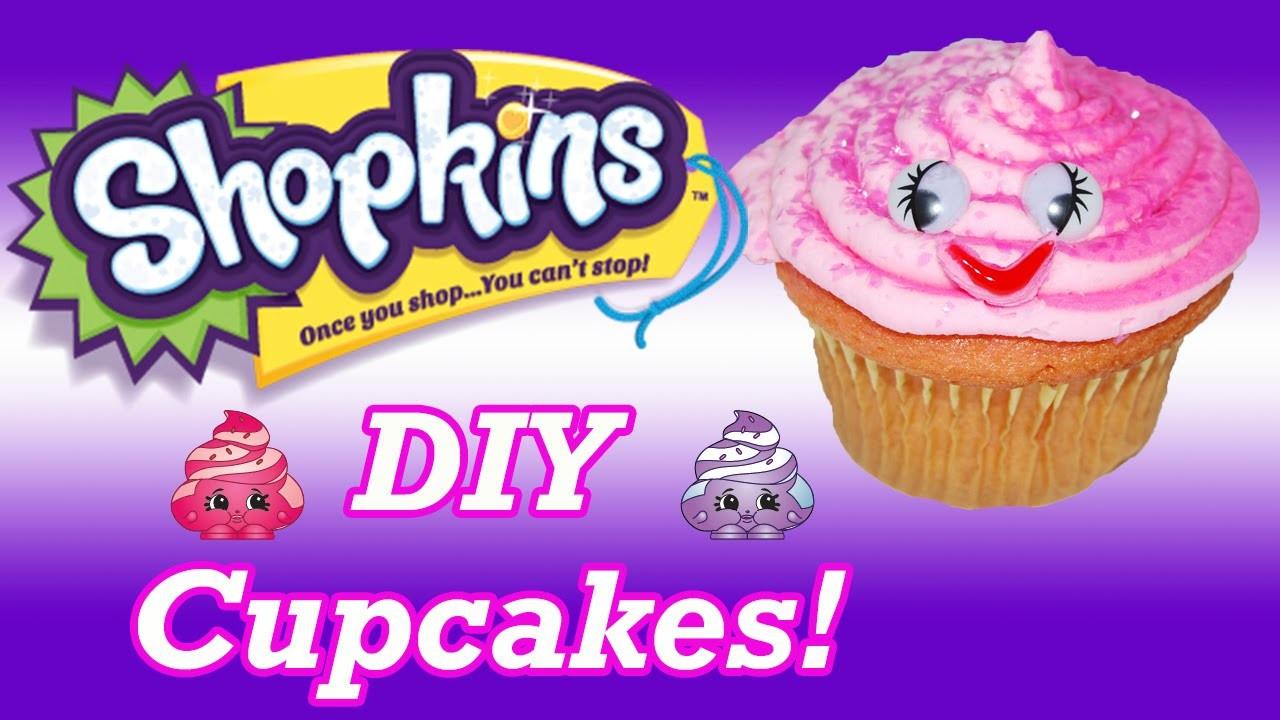 DIY How To Make Shopkins Ultra Rare Mary Meringue Birthday Cupcakes Decorating Tutorial