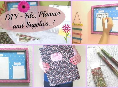 DIY Ideas on File, Planner and Supplies !