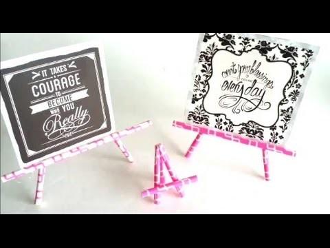 {DIY} Paper Straw Easel