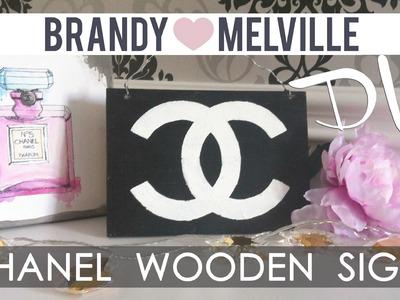 ❤ DIY Room Decor : Brandy Melville inspired CHANEL Wooden Sign