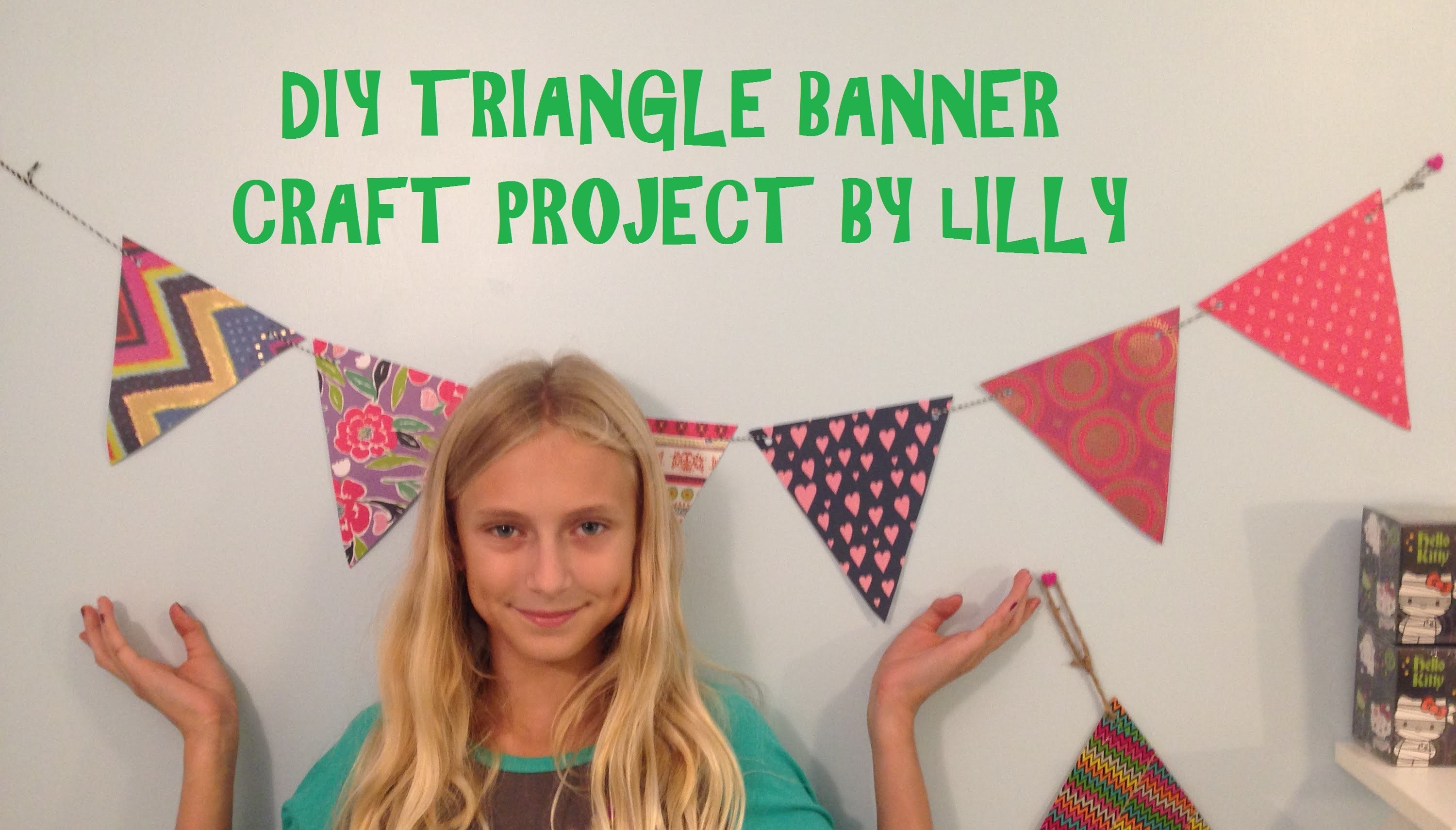 DIY Triangle Banner Craft Project How To Video