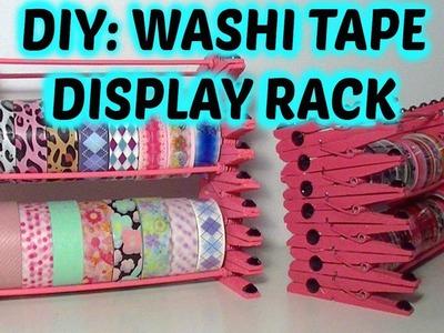DIY washi tape display rack