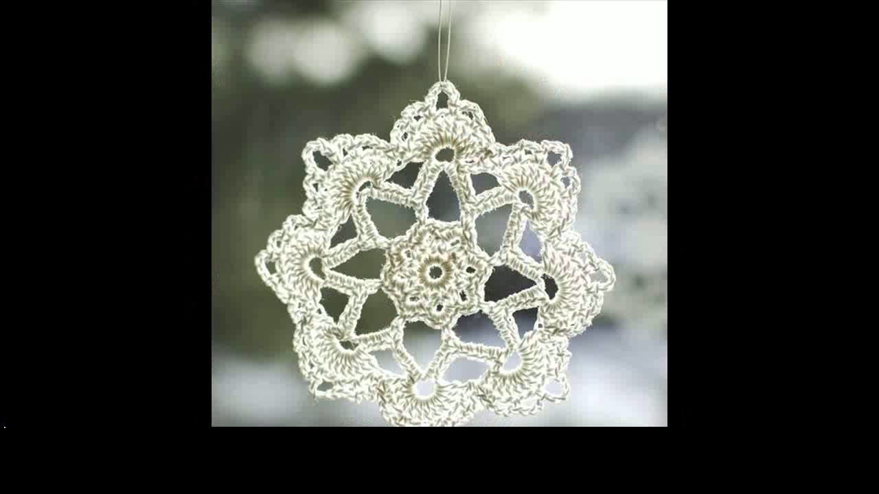 Easy crochet snowflake project