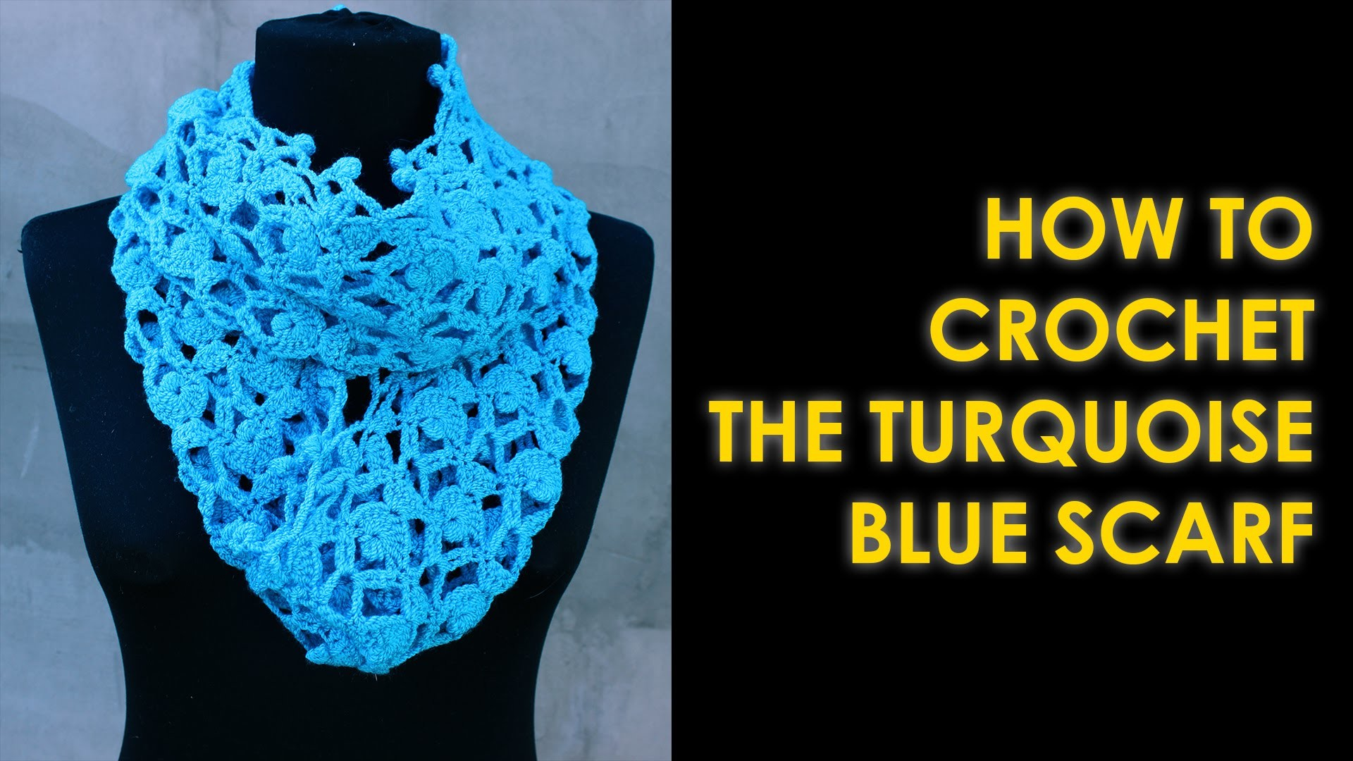 How to crochet scarf Turquoise Blue Scarf by WWWIKA