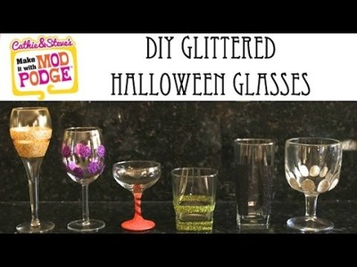 How to DIY Glittered Wine Glasses!