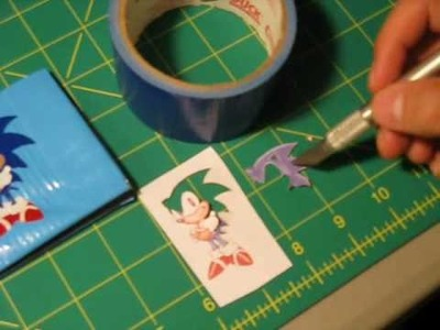 How to do Duct tape puzzle decoration