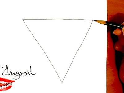 How to draw a TRIANGLE for kids Step by Step Easy with pencil, draw easy stuff but cool on paper