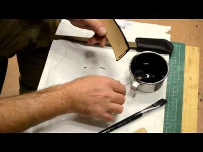 How to make a simple sheath for folding knife -part 6