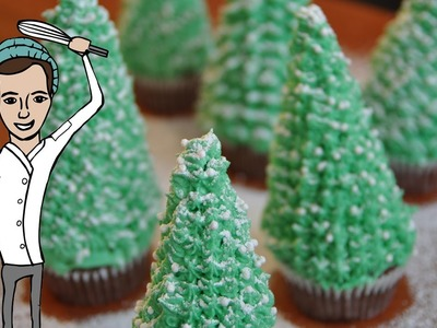 How To Make Christmas Tree Cupcakes | Christmas Collab with The One Pot Chef