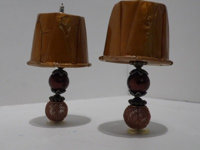 How to Make: Dollhouse Table Lamps