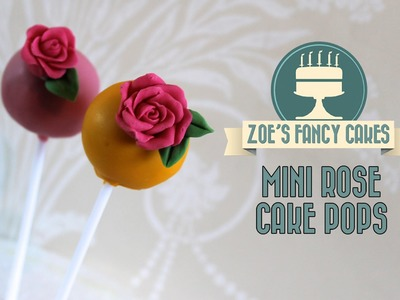 How to make mini rose cake pops flower cake pops tutorial