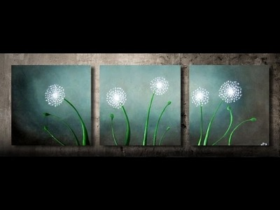 How to paint dandelions 1 - FAST and EASY - step by step