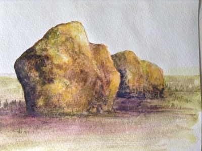How to paint realistic rocks in watercolors