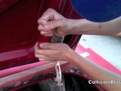 How To Remove Deck Lid on 1966 Mustang To Make Some Dent Repairs