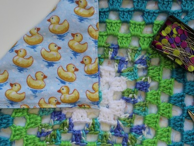 How to Sew a Lining to Crochet Blankets