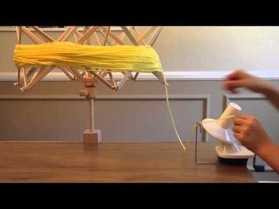 How to Use Umbrella Style Yarn Swift