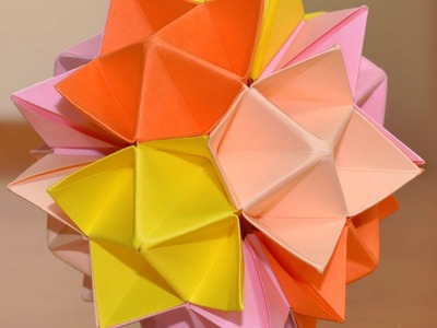 Kusudama Spike Ball - how to make - tutorial