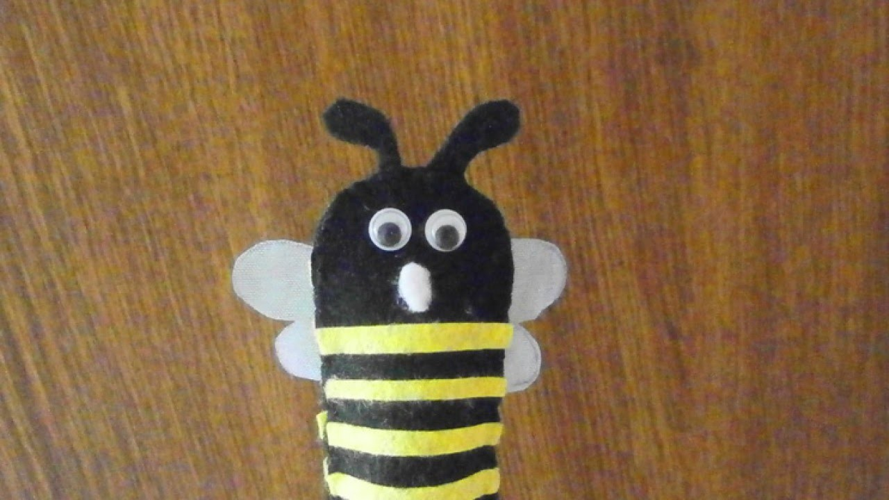Make a Toy Bee Finger Puppet - DIY Crafts - Guidecentral