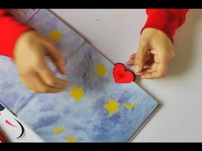 Manualidades - Corazon marca paginas (SUPER FACIL!!!) Heart bookmark