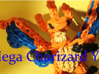 Mega Charizard Y Pokemon - Rainbow Loom Charms