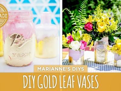 Mother's Day DIY: Gold Leaf Vases - HGTV Handmade