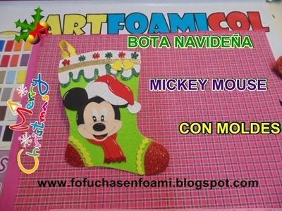 NUEVA BOTA NAVIDEÑA MICKEY MOUSE DE DISNEY EN FOAMY CON MOLDES