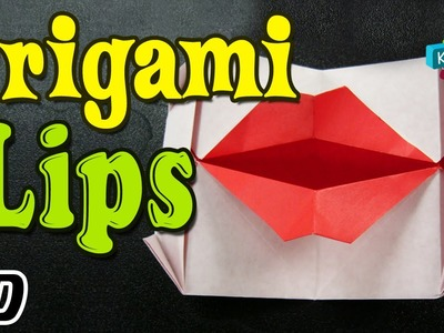 Origami - How To Make TALKING MOUTH. LIPS - Simple Tutorial In English