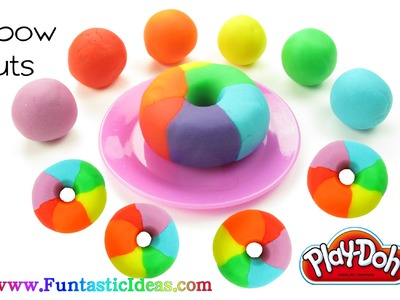 Play Doh Rainbow Donuts - How to with playdough