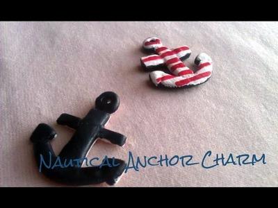 Polymer Clay Anchor Charm Tutorial