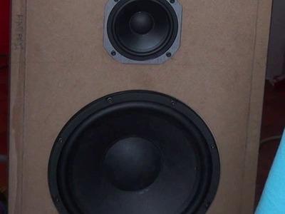 Speaker box enclosure cabinet DIY