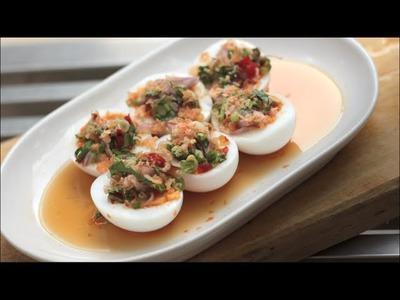 Spicy Egg salad w. Herbs - Hot Thai Kitchen!