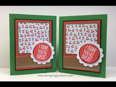 Stampin' Up! Kissing Technique with I Think You're Great