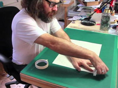 The making of the Heathrow Christmas card with Rob Ryan