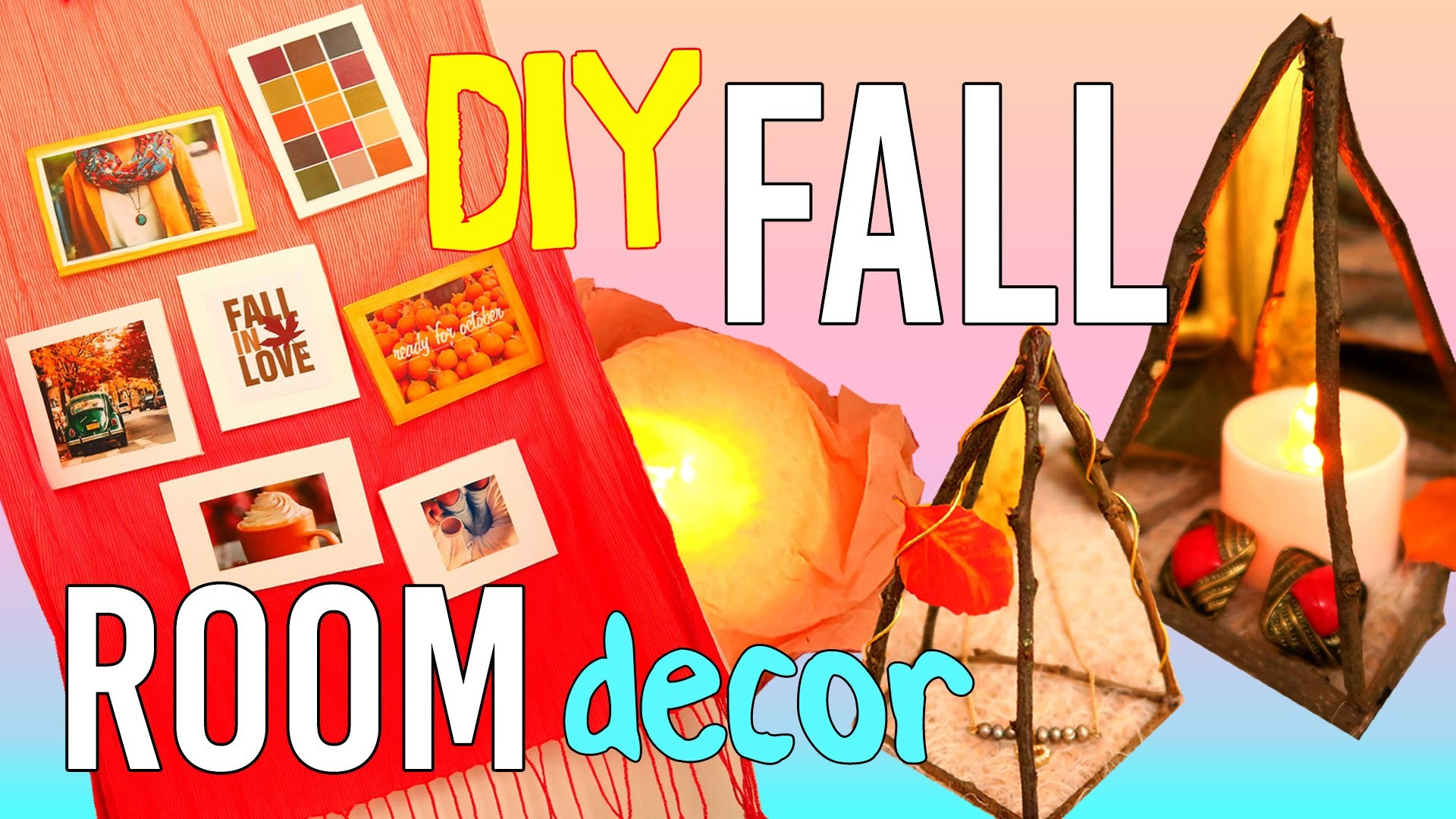Tumblry Fall DIY Room Decor - Wood Decor, Wall Decor, Candle Decor - DIY Crafts - MakeWon 소품 만들기