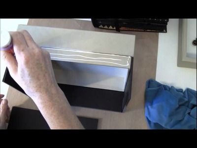 Tutorial on how to make the shadow box- cabinet box for the Olde Curiosity Shoppe photo album