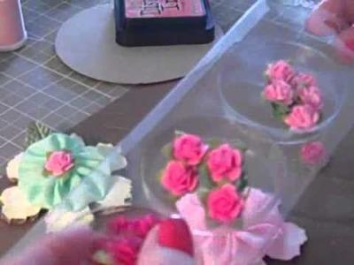Yo Yo Flower tutorial with Tattered floral die